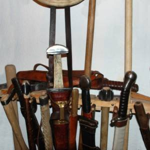 Photo: Weapon holders