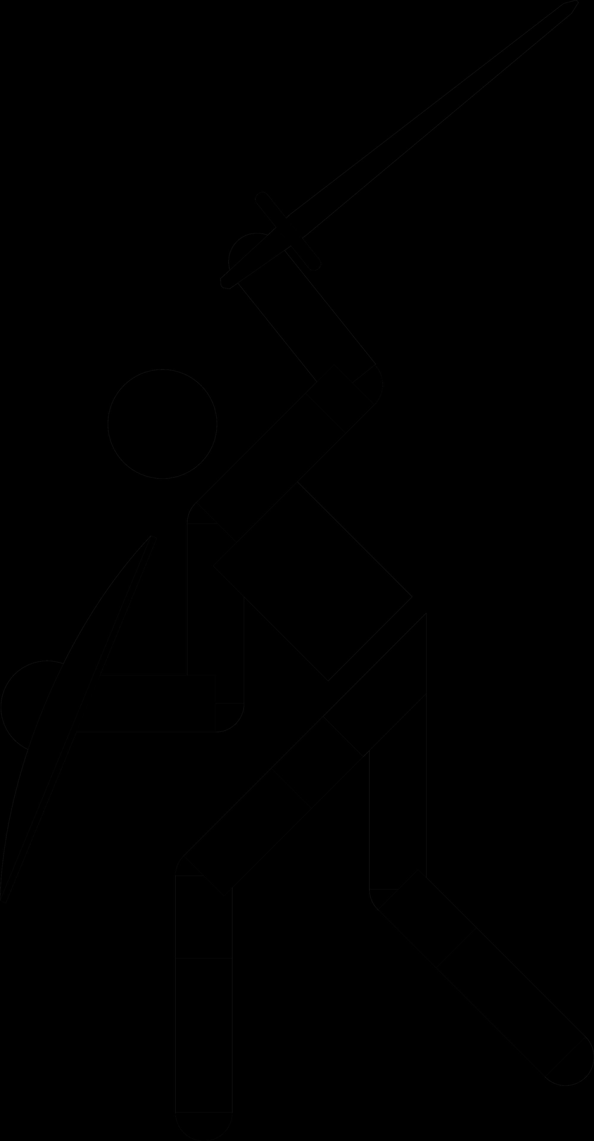 Fechten Piktogramm Gross Yd Logo